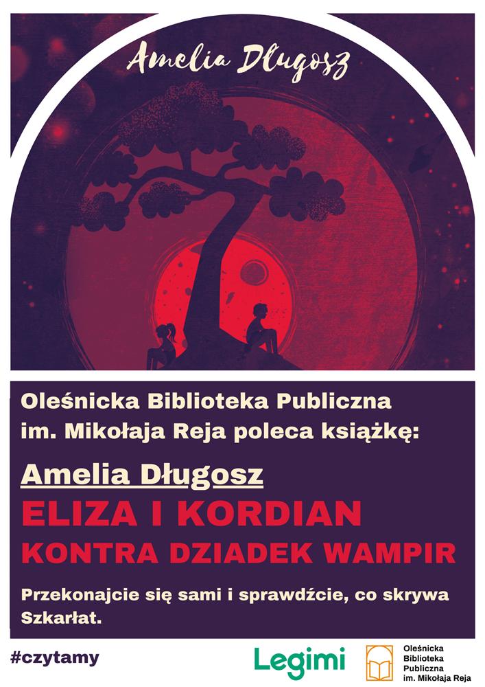 Plakat promujący książkę Amelii Długosz