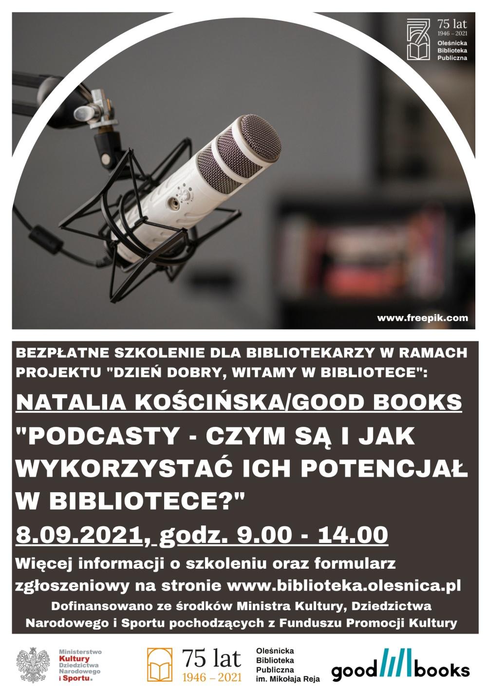 Plakat promujący kolejne szkolenie w ramach projektu Biblioteki