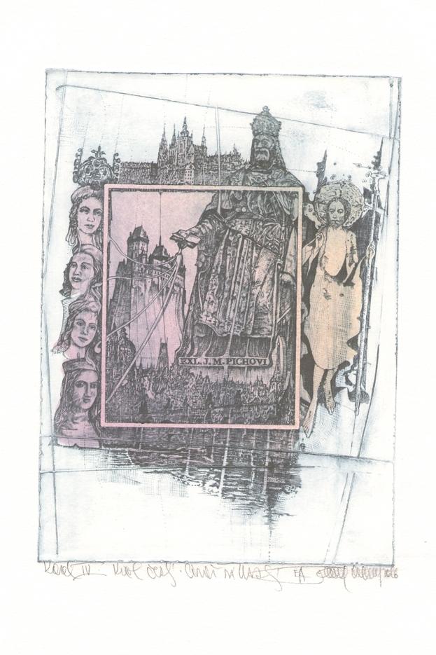 Ekslibris autorstwa Pavla Hlavatego w ramach wystawy