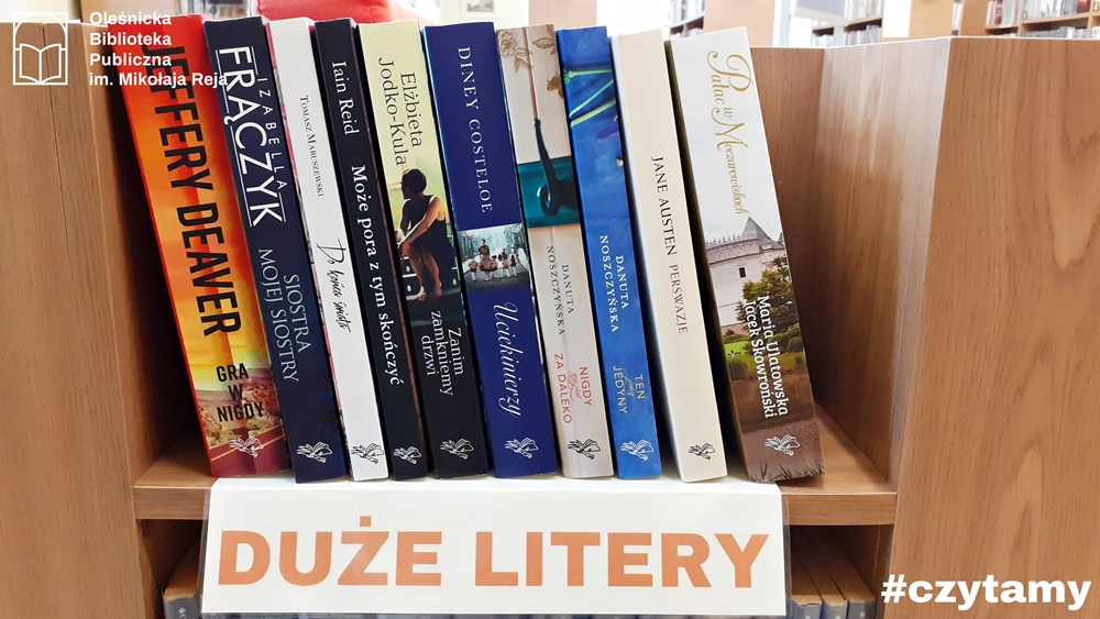 Książki z dużą czcionką dostępne w Bibliotece