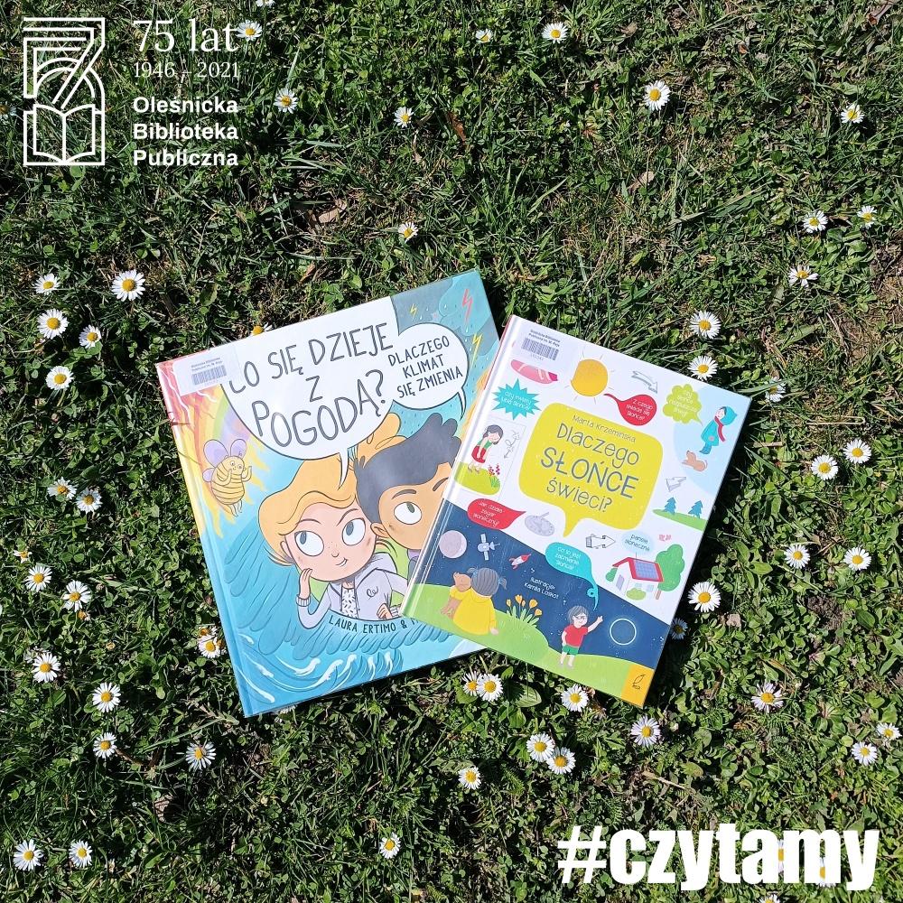 Okładki książek o tematyce proekologicznej dostępne w Bibliotece dla Dzieci i Młodzieży