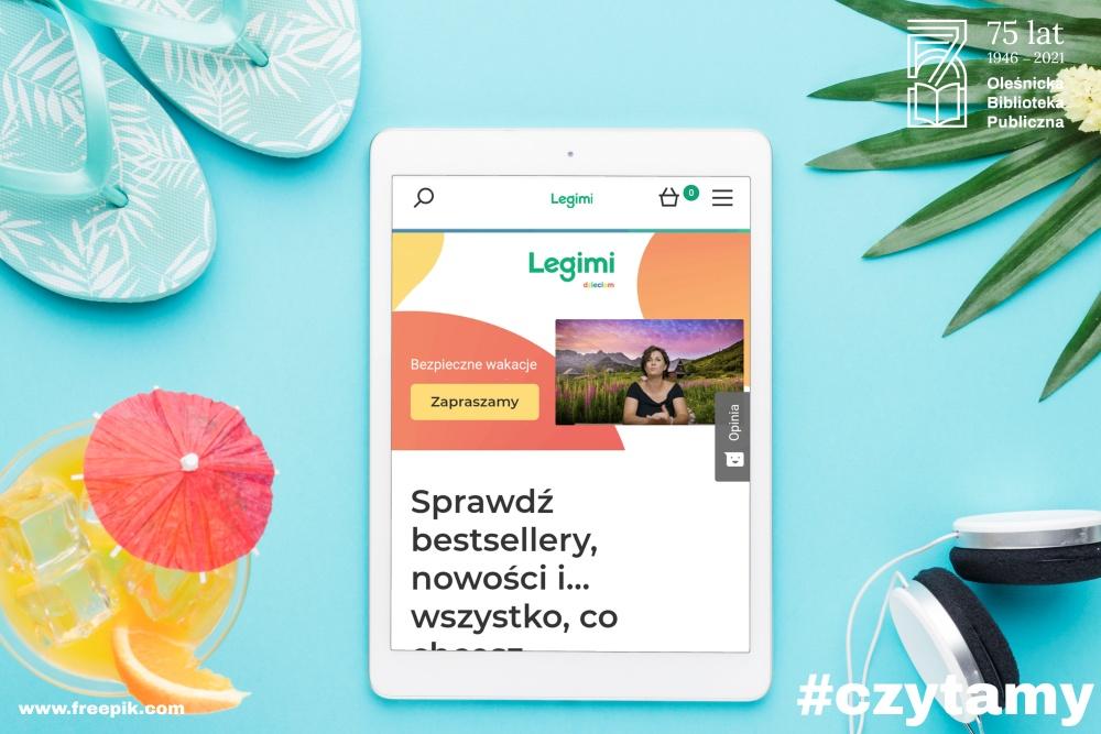 Zdjęcie promujące bezpłatny dostęp do platformy LEGIMI
