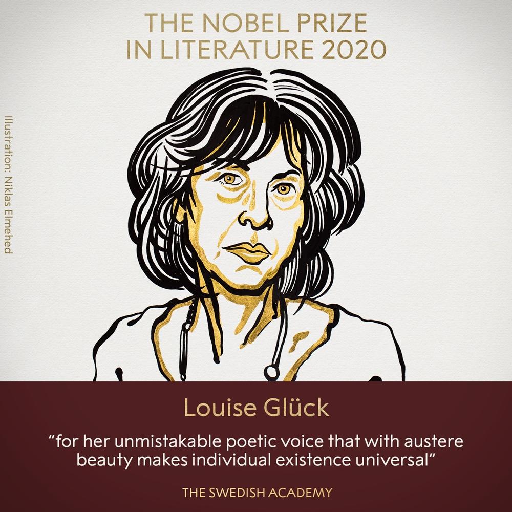Grafika prezentująca Louise Glück