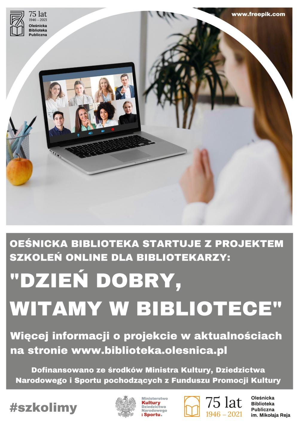 Plakat promujący szkolenia w ramach projektu