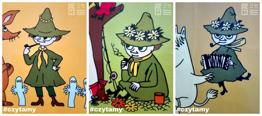 Ilustracje przedtsawiające Włóczykija autorstwa Tove Jansson