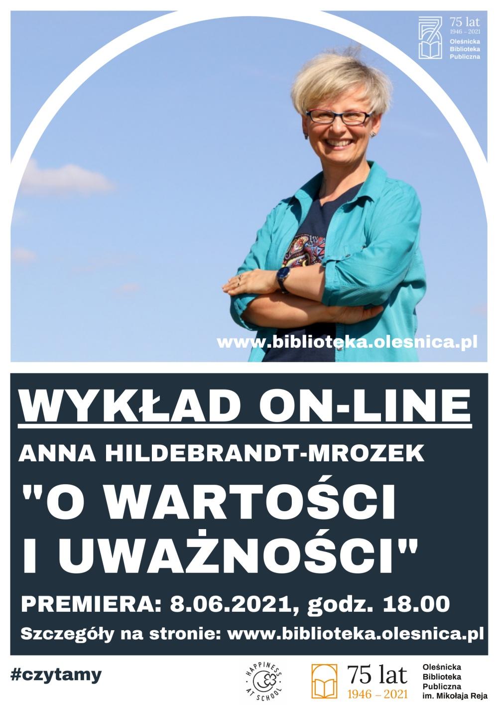 Plakat promujący czerwcowy wykład online